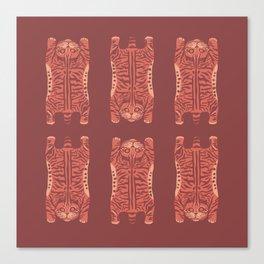 Tabby cat pattern Canvas Print