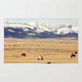 Horses on the Rockies Rug