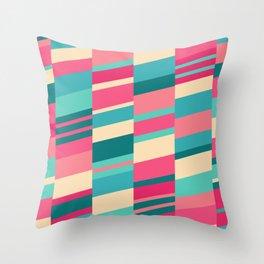 Bubblegum Strips Throw Pillow