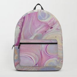 Fluid Nature - Dream In Pastels - Acrylic Pour Art Backpack