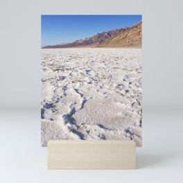 Badwater Basin salt flat in Death Valley National Park Mini Art Print