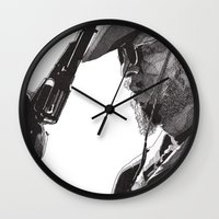 django Wall Clocks featuring Django by Rik Reimert