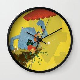 Matilda and Bouru - Melancholy Wall Clock
