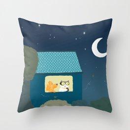 Dharma & Maya are dreaming Throw Pillow