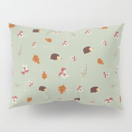Hedgehogs In The Autumn Forest Pillow Sham
