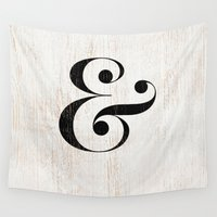 ampersand Wall Tapestries featuring Ampersand by Crea Bisontine