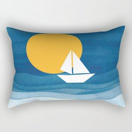 A sailboat in the sea Rectangular Pillow