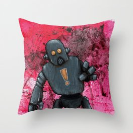 Bue Robot Throw Pillow