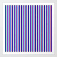Contrast Stripe Art Print