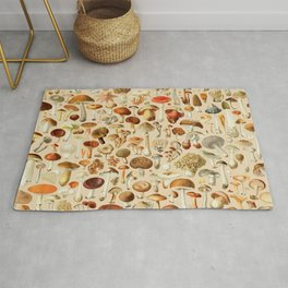 Vintage Mushroom Designs Collection Rug