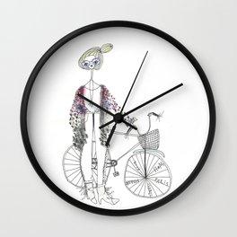 bikegirl Wall Clock