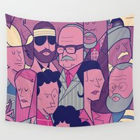 royal Wall Tapestries featuring The Royal Tenenbaums by Ale Giorgini