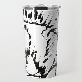 Black & White Abstract 1 Travel Mug