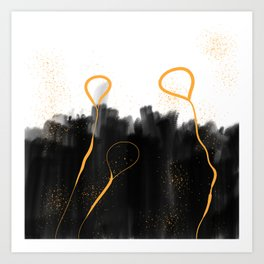 Gold dust Art Print