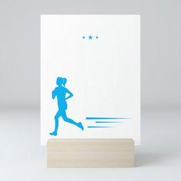 Cute I Run Like a Girl Try To Keep Up Women Runner Mini Art Print