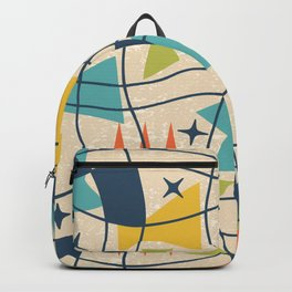 Mid Century Modern Abstract Pattern 761 Backpack