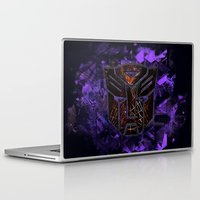 transformers Laptop & iPad Skins featuring Autobots Abstractness - Transformers by DesignLawrence