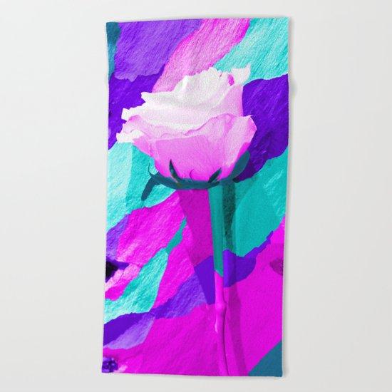Painted Rose Beach Towel