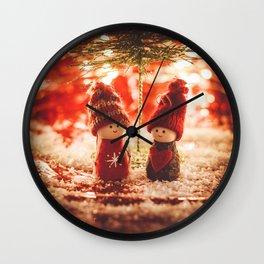 Christmas is coming Wall Clock