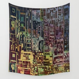 Where Are YOU -4 / Urban Density Wall Tapestry