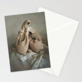 Creamy pointe ballet shoes Stationery Cards