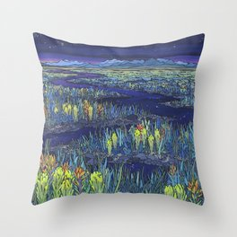 Night River Throw Pillow