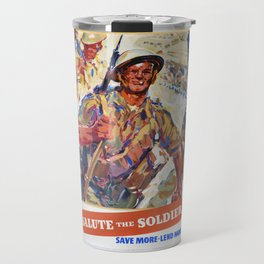 Save More, Reprint of British Wartime Poster Travel Mug
