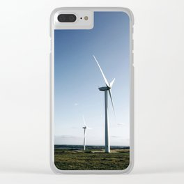 wind turbine in derbyshire Clear iPhone Case