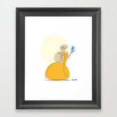 The princess and the tweet Framed Art Print