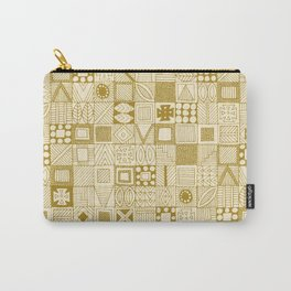 wolf geo gold ivory Carry-All Pouch