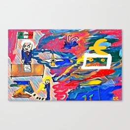 The power in unstable balance Canvas Print