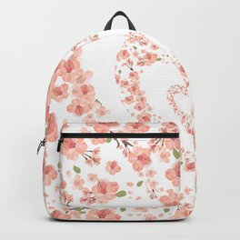 Modern coral pink watercolor valentine's hearts floral Backpack