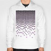 pixel Hoodies featuring Pixel Rain by Picomodi
