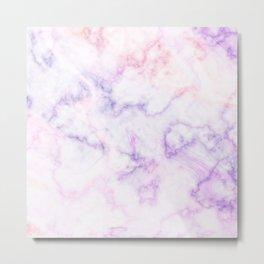 Purple Marble Shades Metal Print