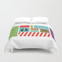 buzz lightyear Duvet Covers featuring TOY STORY : BUZZ LIGHTYEAR STICKERS KIT by DrakenStuff+