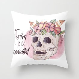 Born Throw Pillow