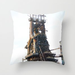 Bethlehem Steel Plant photo 8 Throw Pillow
