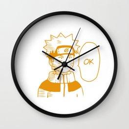 Hero Anime Ok Wall Clock