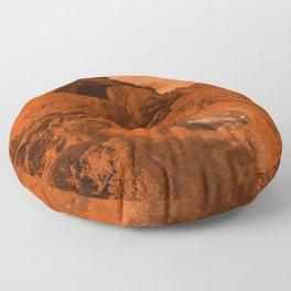 Mars landscape Floor Pillow