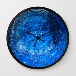 Clear Blue Water Bubbles Wall Clock