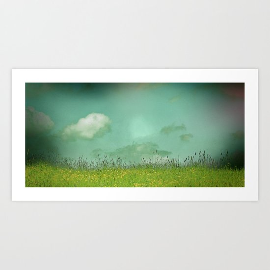 Daydreaming in the meadow - textured photography Art Print