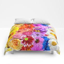 Rainbow Digital Floral Comforters