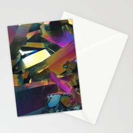 Titanium Rainbow Aura Quartz 1 Stationery Cards