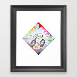 "Bicycle ""1km"" Framed Art Print"