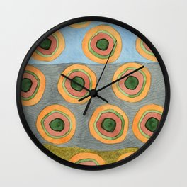 Circles in Front of the Beach Wall Clock
