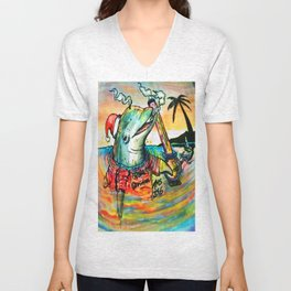 Catching  The Sunrise At The Last Minute  Unisex V-Neck