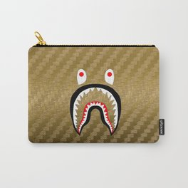 Gold Carbon bape shark Carry-All Pouch