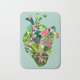 Botanical Heart Mint Bath Mat
