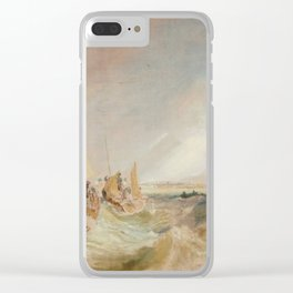 "J.M.W. Turner ""Shipping at the Mouth of the Thames"" Clear iPhone Case"