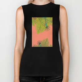 Tropical leaves 02 Biker Tank